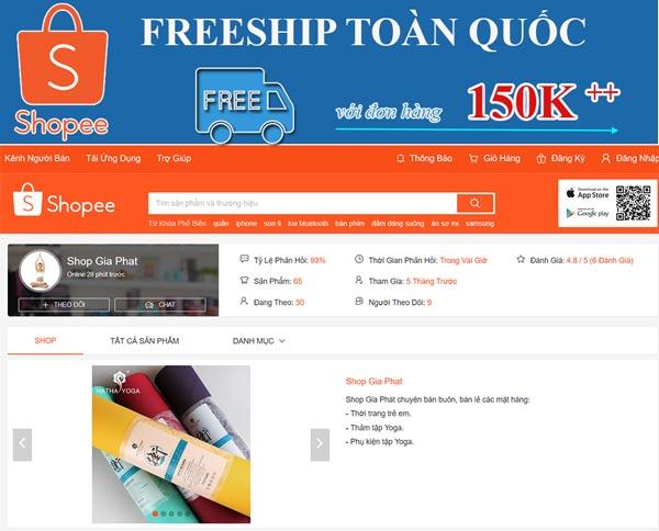 Miễn phí vận chuyển Toàn quốc với đơn hàng 150K trên Shopee.vn