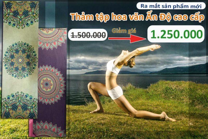 Giảm giá dịp ra mắt sản phẩm mới : Thảm tập yoga hoa văn Ấn Độ cao cấp