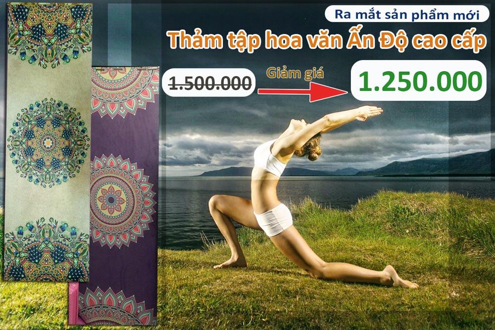 Giảm giá Thảm tập Yoga hoa văn Ấn Độ