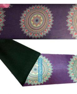 Thảm tập yoga hoa văn Ấn Độ cao cấp - Màu tím