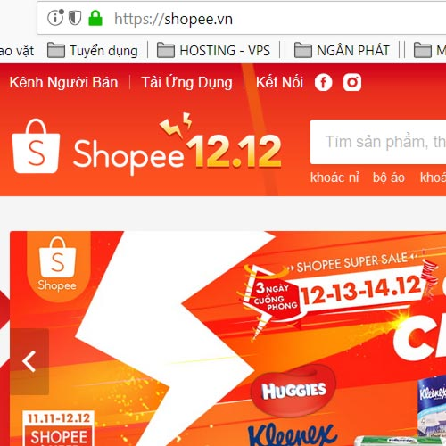 Hướng dẫn đặt mua hàng trên Shopee.vn - Bước 1