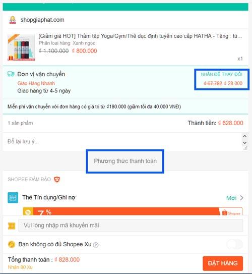 Hướng dẫn đặt mua hàng trên Shopee.vn - Bước 10