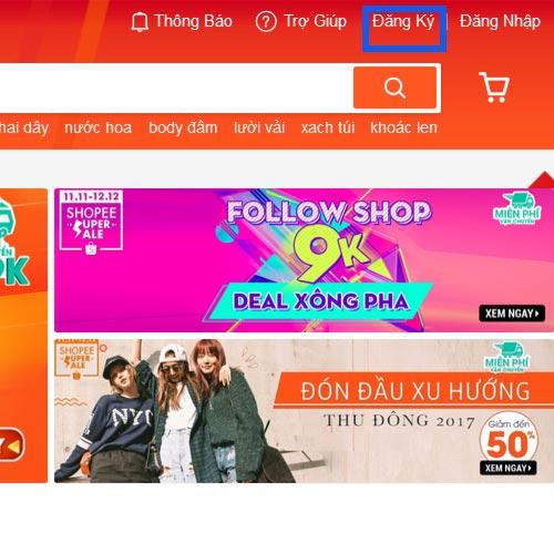 Hướng dẫn đặt mua hàng trên Shopee.vn - Bước 2