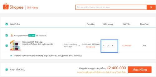 Hướng dẫn đặt mua hàng trên Shopee.vn - Bước 8