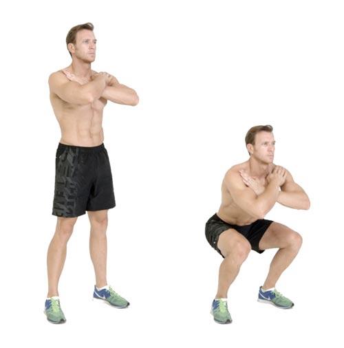 Công dụng tuyệt vời của tư thế yoga cây cầu - Squat