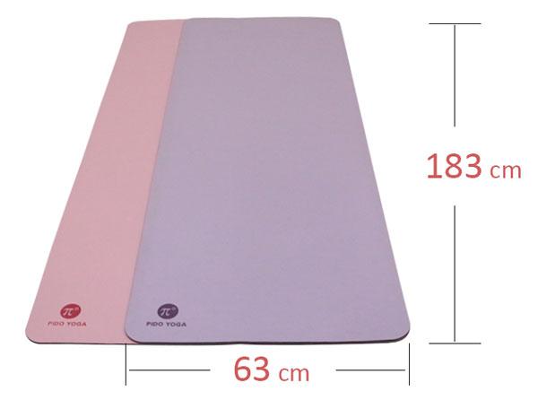 Thảm tập yoga cao cấp PIDO - Kích thước