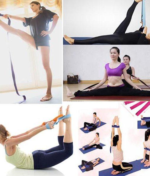 Dây đai hỗ trợ tập yoga sợi cotton - Một số động tác yoga