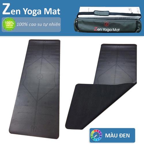 Thảm tập yoga định tuyến cao cấp ZEN Yoga Mat - Màu đen