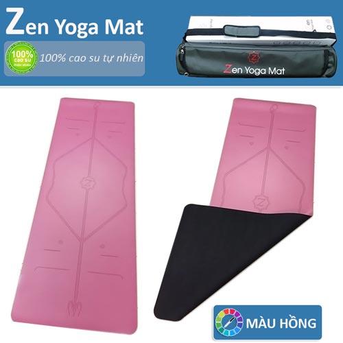Thảm tập yoga định tuyến cao cấp ZEN Yoga Mat - Màu hồng