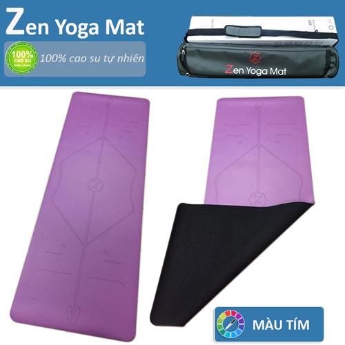 Thảm tập yoga định tuyến cao cấp ZEN Yoga Mat - Màu tím