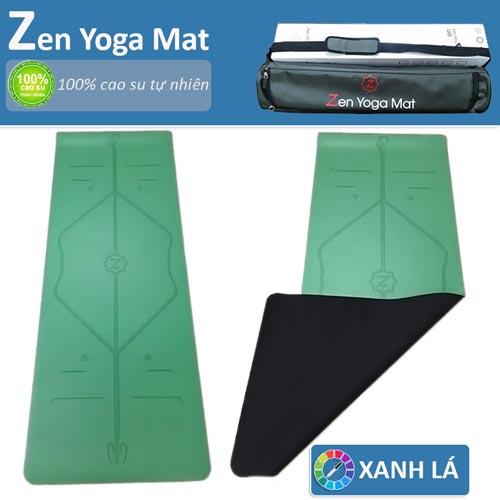 Thảm tập yoga định tuyến cao cấp ZEN Yoga Mat - Xanh lá