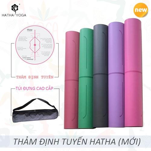Thảm tập yoga định tuyến Hatha PU cao cấp