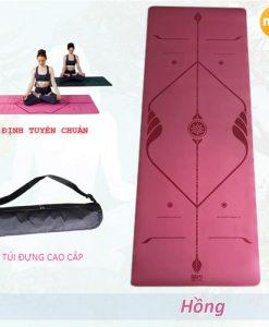 Thảm tập yoga định tuyến nội địa Trung Quốc - Màu Hồng