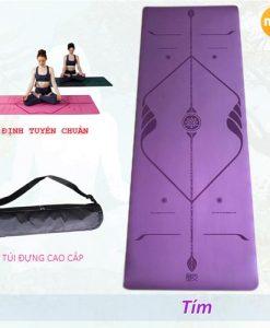 Thảm tập yoga định tuyến nội địa Trung Quốc - Màu Tím