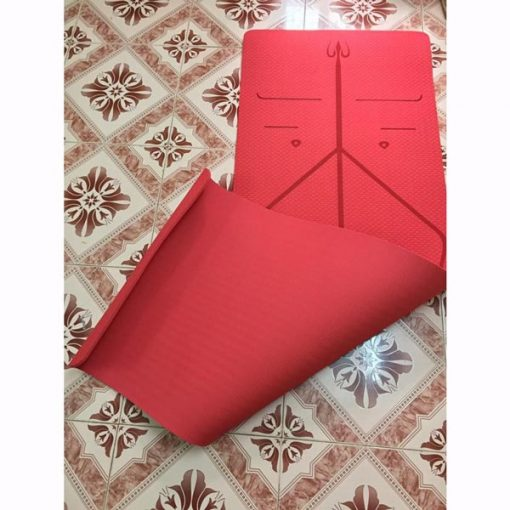 Thảm tập Yoga định tuyến Zen TPE 8mm - Màu đỏ