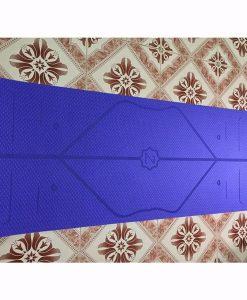 Thảm tập Yoga định tuyến Zen TPE 8mm - Tím nhạt