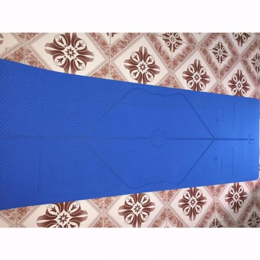 Thảm tập Yoga định tuyến Zen TPE 8mm - Xanh dương