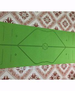 Thảm tập Yoga định tuyến Zen TPE 8mm - Xanh lá