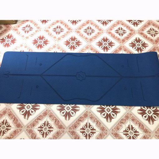 Thảm tập Yoga định tuyến Zen TPE 8mm - Xanh lam