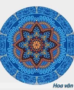 Thảm tập yoga tròn hoa văn đẹp - Hoa văn 1