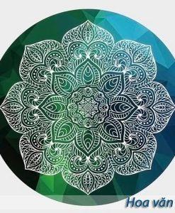 Thảm tập yoga tròn hoa văn đẹp - Hoa văn 2