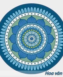 Thảm tập yoga tròn hoa văn đẹp - Hoa văn 3