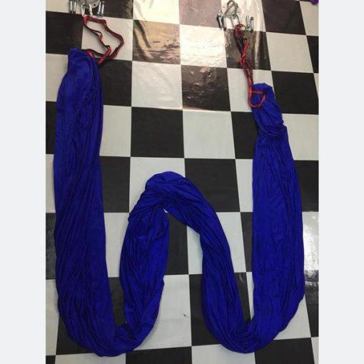 Võng tập yoga vải dù chuyên nghiệp - xanh dương