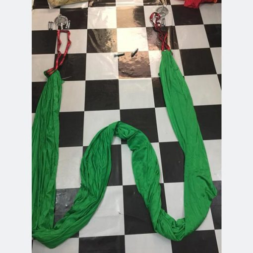 Võng tập yoga vải dù chuyên nghiệp - xanh lá