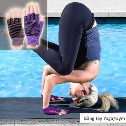Găng tay tập yoga/gym xỏ ngón thun sợi cao cấp