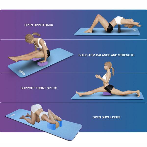 Các tư thế tập yoga với gạch/gối