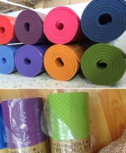 Thảm tập yoga TPE 8mm 1 lớp - view gần