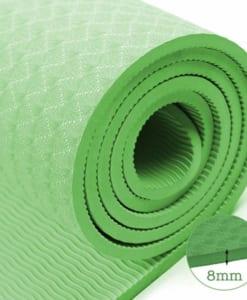 Thảm tập yoga TPE 8mm 1 lớp - xem độ dày