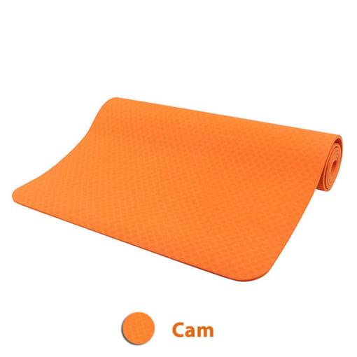 Thảm tập yoga TPE 8mm 1 lớp - Màu cam