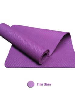 Thảm tập yoga TPE 8mm 1 lớp - Màu tím đậm