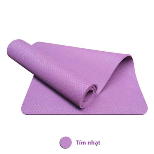Thảm tập yoga TPE 8mm 1 lớp - Màu tím nhạt