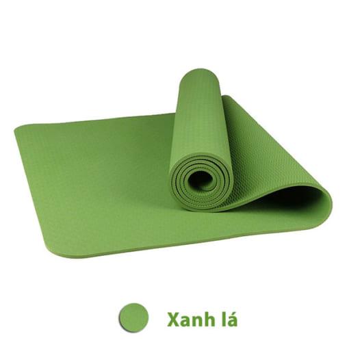 Thảm tập yoga TPE 8mm 1 lớp - Màu xanh lá
