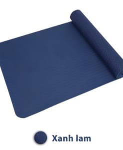 Thảm tập yoga TPE 8mm 1 lớp - Màu xanh lam