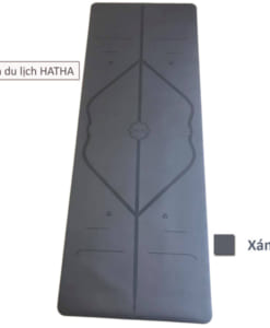 Thảm tập yoga du lịch Hatha dày 2mm - Màu xám
