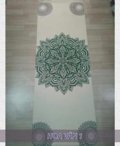 Thảm tập yoga du lịch hoa văn 1.6mm - Hoa văn 1