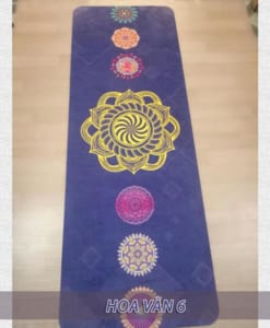 Thảm tập yoga du lịch hoa văn 1.6mm - Hoa văn 6