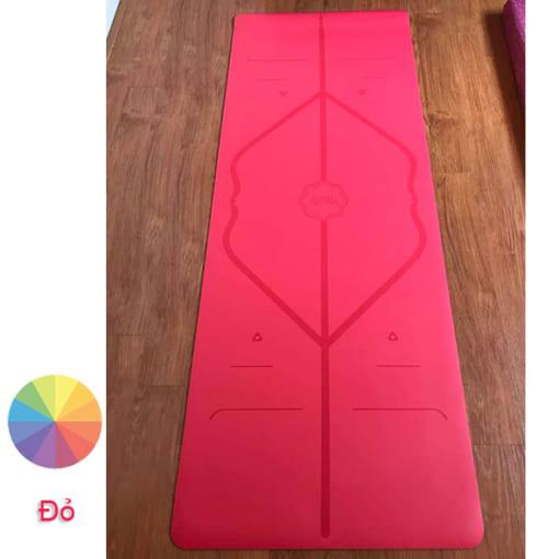 Thảm tập Yoga Hatha PU màu đỏ