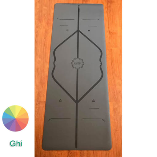 Thảm tập Yoga Hatha PU màu ghi