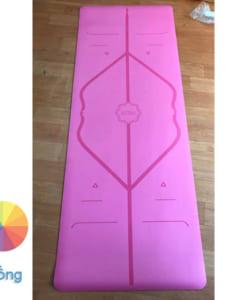 Thảm tập Yoga Hatha PU màu hồng