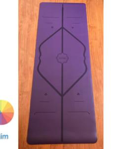 Thảm tập Yoga Hatha PU màu tím
