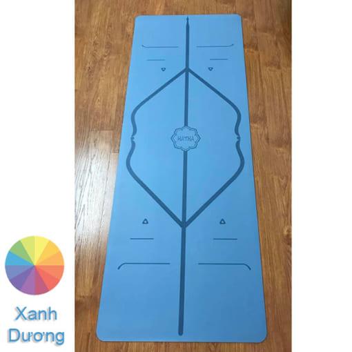 Thảm tập Yoga Hatha PU màu xanh dương