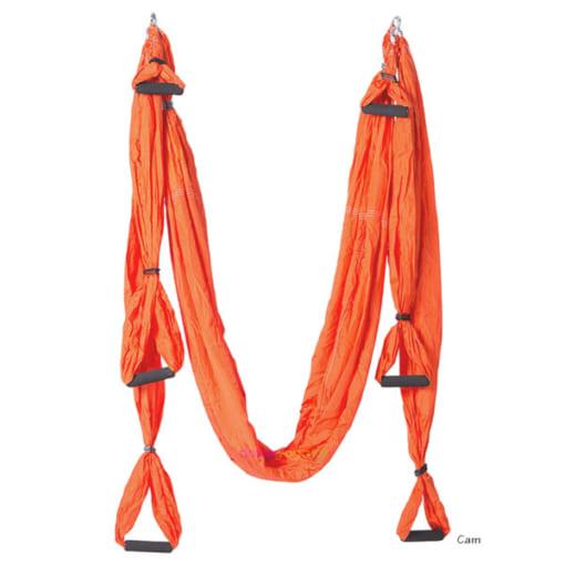 Bộ võng tập yoga bay vải dù có tay cầm - Màu cam