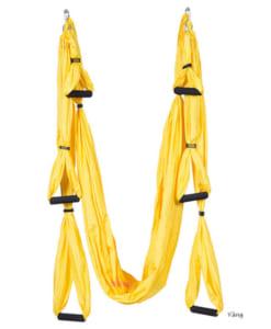 Bộ võng tập yoga bay vải dù có tay cầm - Màu vàng