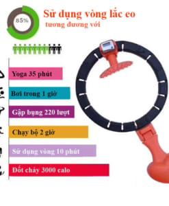 Vòng lắc eo thông minh Hula Hoop có đồng hồ đếm