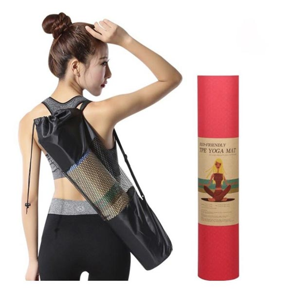 Mua thảm tập yoga được tặng túi lưới đựng thảm rất tiện lợi khi di chuyển