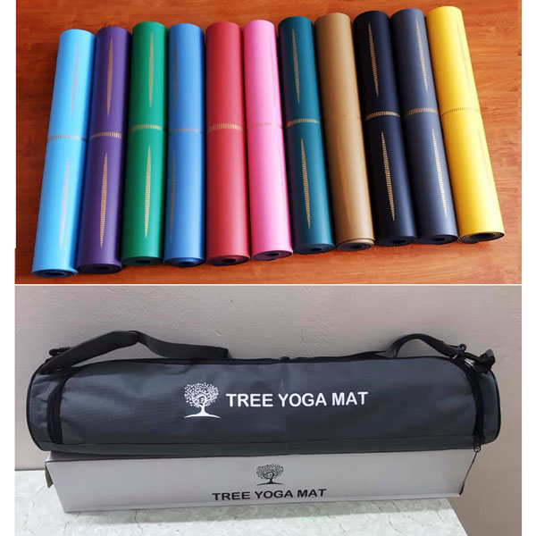 Thảm tập Tree Yoga đơn sắc
